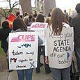 Manifestation de membres de CUPE