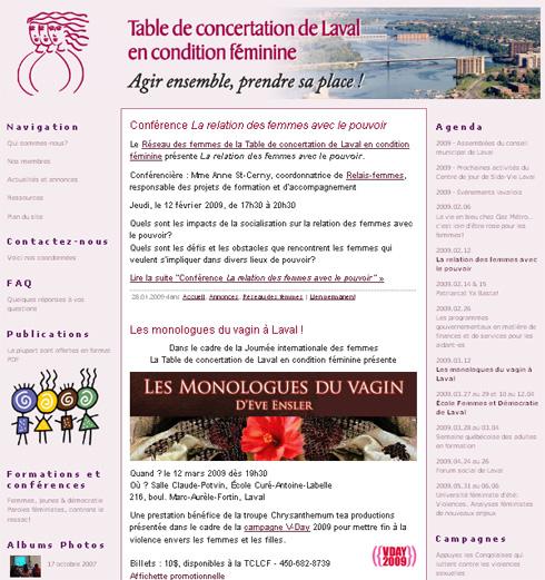 Table de concertation de Laval en condition féminine