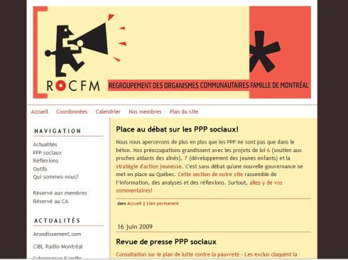 <br /> Regroupement des organismes communautaires famille de Montréal