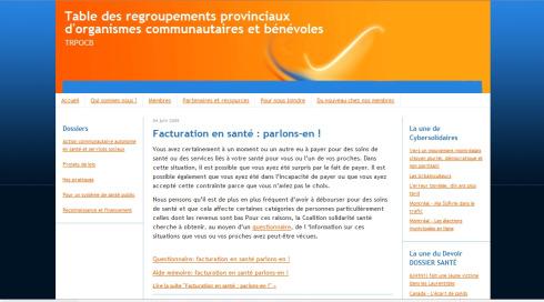 Table des regroupements provinciaux d'organismes communautaires et bénévoles