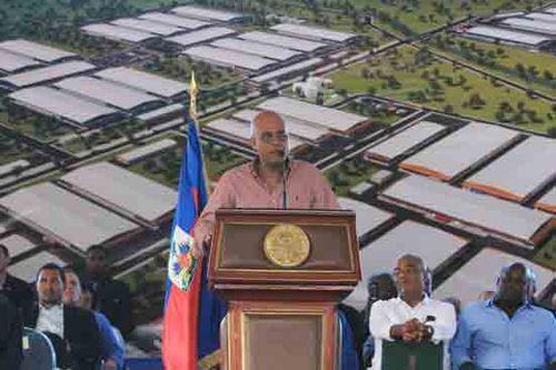 Michel Martelly lors de l'inauguration du PIRN le 28 novembre 2011