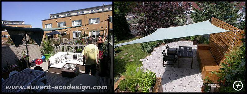 auvent codesign profitez pleinement de votre cour donnez du panache votre terrasse. Black Bedroom Furniture Sets. Home Design Ideas
