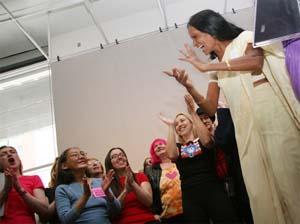 À la conférence de presse. Photo : Lainie Baisman