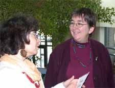 Brigitte Verdière, organisatrice du colloque, et Vivian Labrie du Collectif pour un Québec sans pauvreté